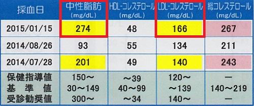 郵送血液検査結果-脂質代謝